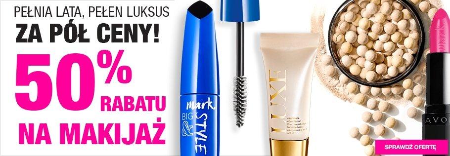 Promocja na kosmetyki do makijażu AVON